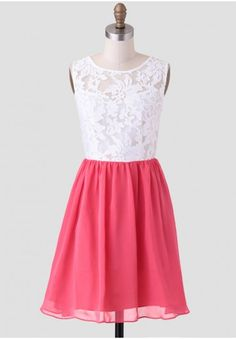 Annalise Embroidered Dress In Coral