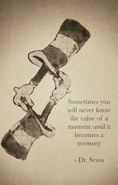 Sometimes you will never know the value of a moment until it becomes a memory...