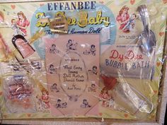"""Effanbee Dy-Dee Doll Baby Original Trunk for a 12"""" Doll with Dress and Accessories"""