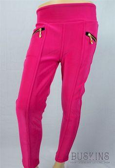 Buskins Leggings, Pink Leggings, Pink Girl, Parachute Pants, Sweatpants, Clothes, Women, Zippers, Girls