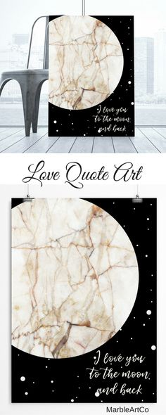 Large Framed Art Prints - Expressing your love has never been so easy. Just give this print to your special person and he will understand everything without words. Check out on MarbleArtCo | Abstract Space Art, Luna art, Moon Art, Scandinavian Nursery Decor, Marble Wall Art, I Love You To The Moon And Back Sigh, Framed Poster, Valentine Day Gift For Her or Him, Large Framed Art Prints