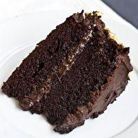 The BEST homemade chocolate cake. My mom's favorite recipe.