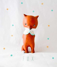 Possibly one of the sweetest things I've seen. Fox Figurine Animal by Paola Zakimi
