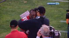 1-14-12 - Vernon Davis in tears seconds after making the winning touchdown catch in the 49ers divisional playoff game versus the New Orleans Saints. Final Score: 36-32