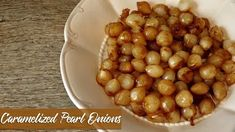 Caramelized Pearl Onions are easy to make and full of sweet, buttery flavor even people who don't like onions will be popping them like candy! Pearl Onion Recipe, Onion Recipes, Quick Side Dishes, Vegetable Side Dishes, Side Dish Recipes, Dishes Recipes, Recipies, Thanksgiving Recipes