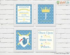 Personalized Little Prince Nursery Prints by ArtfulLifeDesigns