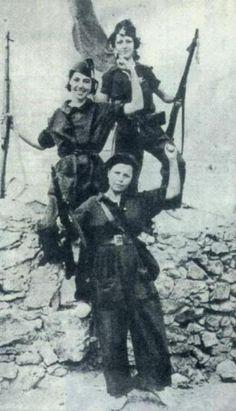Anarchist militia women. Spanish revolution.