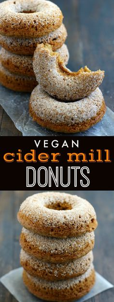 The BEST baked vegan cider mill donuts! There's nothing better than a freshly made donut on a weekend morning! These are so easy and delicious. #vegan