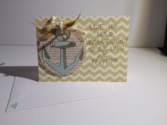 Handmade Sympathy Card Hold Unswervingly by MimiandOpals on Etsy, $10.00