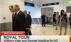 william, kate and george leave for NZ and Oz