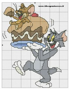 TOM AND JERRY CROSS STITCH - PUNTO CROCE by syra1974 on DeviantArt