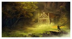 The House by the Stream by *ReneAigner on deviantART
