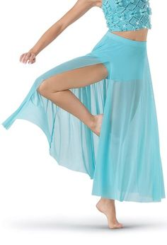 High Waist Mesh Maxi Skirt - Balera - Product no longer available for purchase Cute Dance Costumes, Dance Costumes Lyrical, Nymph Costume, Contemporary Dance Costumes, Dance Shorts, Mesh Skirt, Dance Fashion, Dance Outfits, Dance Wear