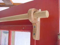 diy curtain rod holder