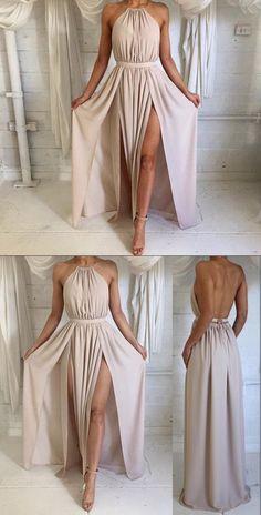 boho prom dress party dress, sexy party long dress, backless prom dress