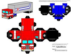 Custom Transformers Cut out templates of paper toys i& made. All my Transformers Cubeecraft fan art designs are based on Characters originally from Hasbro & Takara Transformers Series of Toys and. Transformers 4, Paper Toys, Paper Crafts, Cubes, Transformer Birthday, Transformer Costume, Prime Movies, Rescue Bots, 6th Birthday Parties
