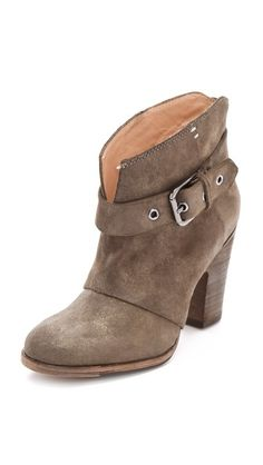 Suede & Leather Side Buckle Boot ~ Belle by Sigerson Morrison