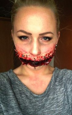 Halloween spfx makeup fancy dress. Special effects by me