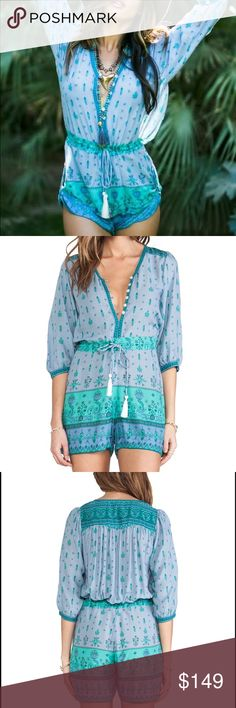 New Spell & The Gypsy Collective Desert Wanderer This is a new authentic Spell and the Gypsy Collective desert wanderer playsuit in dawn. Size extra small. Australia size 6. Made of 100% rayon. No flaws. New condition. Spell & The Gypsy Collective Pants Jumpsuits & Rompers
