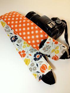Dslr Camera Strap Slipcover with lens pocket  by KallieLilyS