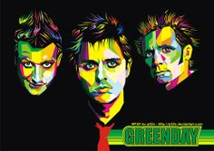 Green Day. Billie Joe Armstrong, Mike Dirnt, Tre Cool. Art