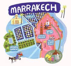 Marrakech Map by David 1976, via Flickr