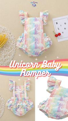 Unicorn Kids, Jumpsuit, Rompers, Rainbow, Summer Dresses, Best Deals, Children, Fun, Baby