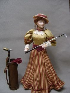 Edwardian Golfer in honor of my mother who oved to golf