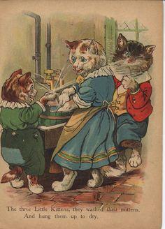 """THE THREE LITTLE KITTENS"", Raphael Tuck & Sons Ltd."
