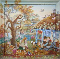 Artist Elena Revutskaia Naive art www.artistelena.com