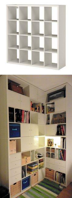 A made-to-measure KALLAX corner bookcase - IKEA Hackers - IKEA Hackers