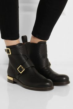 KILLER BOOTS!! Chloé Textured-leather ankle boots NET-A-PORTER.COM