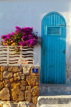Greetings Card-Local architecture, Cala d& Menorca, Balearic Islands, Spain-Photo Greetings Card made in the USA Ibiza Formentera, Bougainvillea, Cool Doors, Knobs And Knockers, Portal, Balearic Islands, Grand Entrance, Doorway, Stairways