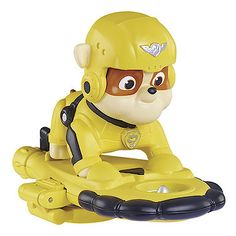 Paw Patrol Air Rescue Pup Figure with Badge - Rubble
