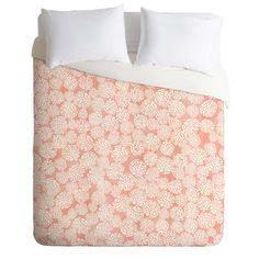 Joy Laforme Pink Dahlias Duvet Cover   DENY Designs Home Accessories