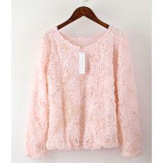 Beautiful Floral Lace Chiffon Blouse