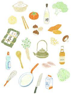 葉懿瑩 i ying yeh / illustration / blog: Illustration for book cover/ 書封插畫: 日本的餐桌