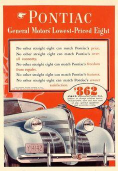 Vintage Pontiac Ad - 1939