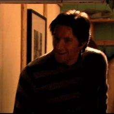 """(gif) - Harry: """"Oh, hello!""""  Geraldine & Alice: """"Hello!"""""""