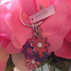 """Spotted while shopping on Poshmark: """"Coach Flower Key Ring""""! #poshmark #fashion #shopping #style #Coach #Accessories"""