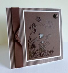 embossing on dark card Happy Wishes by sistersandie - Cards and Paper Crafts at Splitcoaststampers