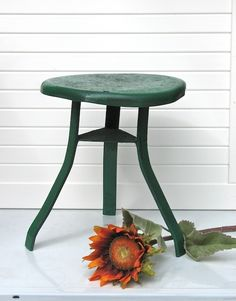 old milking stool - to become bathroom stool
