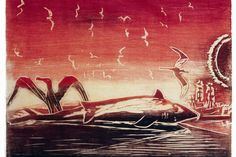 Pôr-do-sol, de Oswaldo Goeldi.