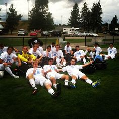 The guys at halftime during our weekend in Spokane. We won both our games.