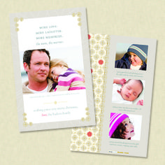 the more the merrier holiday photo card - RUVAcards- this is so pretty great for younger or older kids.