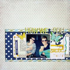 loving the navy polka dots and clean collage   Cocoa Daisy Forecast kit   Mandie Pierce