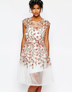 Body+Frock+Wedding+Embroidered+Rose+Dress