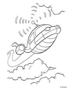 color this beautiful rocket a nice coloring page about the movie little einsteins