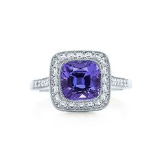 Tiffany Legacy Collection™ ring with a tanzanite and diamonds in platinum.