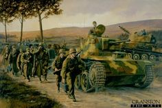 Hungary Military Toldi IIa Light tank and troops of the Hungarian Army watch out for .
